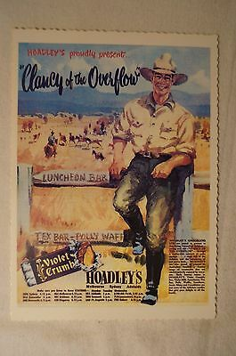 COLLECTABLE - Hoadleys - Radio Broadcasts - Postcard - Clancy of The Overflow