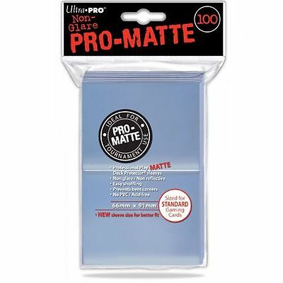 100 ULTRA-PRO Pro-Matte Deck Protector Standard Card Game Sleeves 84731 Clear