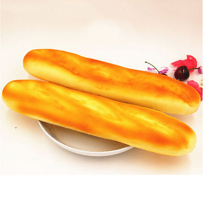 Baguettes françaises Jumbo Squishy Keyboard Hands Pillows Scent Loaf Bread Toy