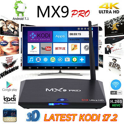 2017 MX9 PRO Android 7.1 Internet TV Box 2GB+16GB KDMC Media Player Free Movies