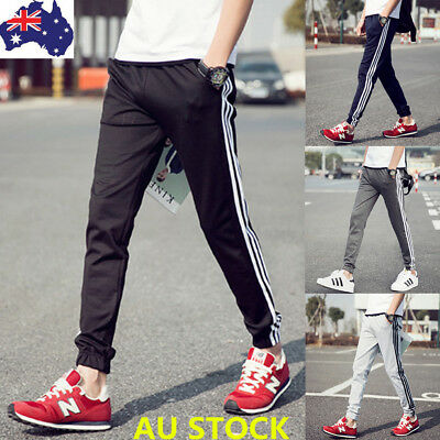 Men's Track Pants Casual Sport Skinny Gym Jogging Jogger Pencil Pants Trousers