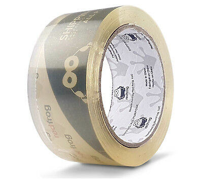 """Red Frog 1 Roll 2.5 mil 1.88"""" x 60 yds Clear, Low Noise Packaging Packing Tape"""