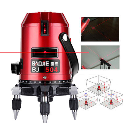 Automatic Self Leveling 5 Line 6 Point Laser Level Rotary Measure + 1.2m Tripod