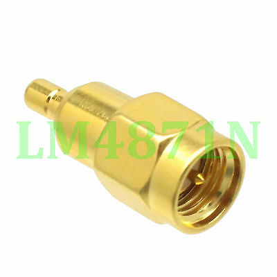 1pce Adapter SMA male plug to SSMB male plug RF coaxial connector straight M/M