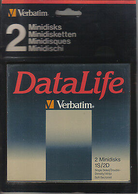 2 MINIDISQUES Datalife - VERBATIM - article NEUF