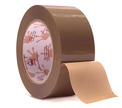 "Red Frog 1 Roll 2.2 mil 1.88""x110yds Tan/Brown Low Noise Packaging Packing Tape"