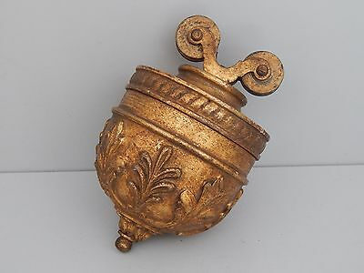Antique  rise and fall Gilt wood & Gesso Weight c1890
