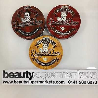 Dapper Dan Men's Hair Styling Products | Matt Paste | Matt Clay | Deluxe Pomade