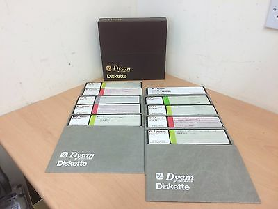 "Dysan Diskette 8"" Floppy Disks Box Of 10 Retro Vintage Used Un Tested"