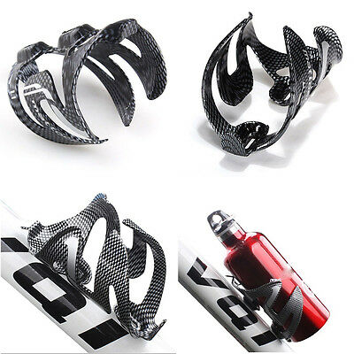 Glass Water Bottle Holder Rack Cage Road MTB Bike Carbon Fiber Bicycle Cycling