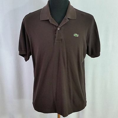 Lacoste men 39 s size 6 black short sleeve polo cad for Lacoste shirts with big alligator