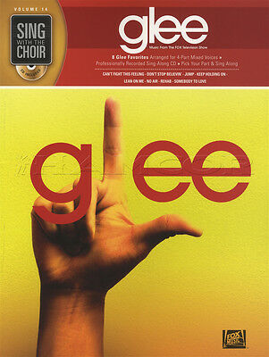 Sing with the Choir Glee Vocal Sheet Music Book with CD Rehab Somebody To Love
