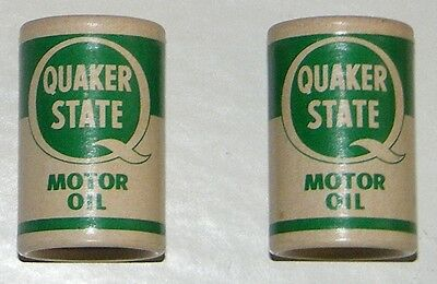 Quaker State Motor Oil Can Vtg Salt Shakers