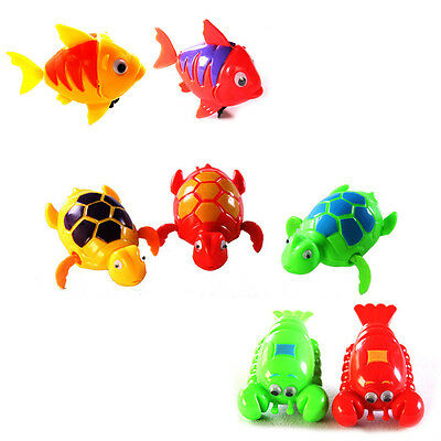 Cute Funny Wind-Up Clockwork Toys Animals Swimming Pool Tub For Baby/Kids