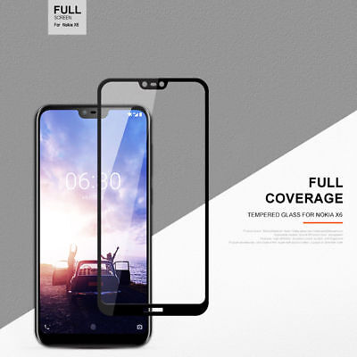 Full Coverage Tempered Glass Screen Protector For Nokia 1 3.1 5 X6 6.1 7 Plus 8
