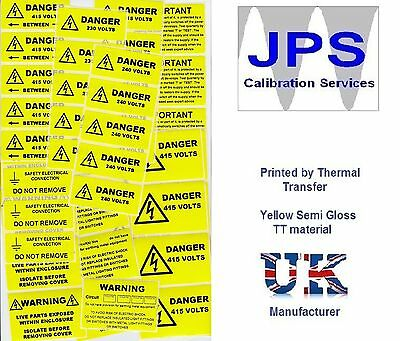 Electrical Labels - WARNING CAUTION DANGER PERIODIC INSPECTION VOLTAGE pm19