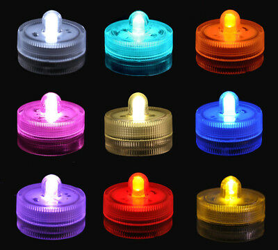 Waterproof Submersible LED Tea Light Battery Operated Wedding Party Event Pack