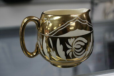 Gibsons Staffordshire Gold Luster Pitcher or Creamer 1950s EUC