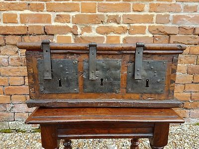 Rare Late 15th Century Early 16th Century Antique Walnut Alms Box