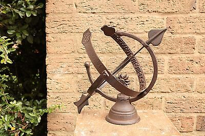 Decorative Iron Sphere Armillary Sundial Garden Clock Ornament. SMALL