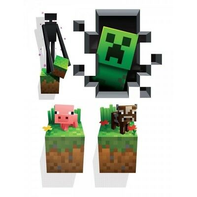 Minecraft Wall Clings Creatures 4-Pack