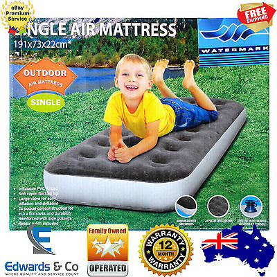 Single Inflatable Mattress Air Bed Kids Camping Outdoor Bedding Double Pump New