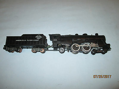 American Flyer #303 4-4-2 Atlantic Locomotive & Tender. Runs & Smokes Well!