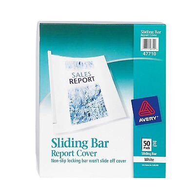 Avery Sliding Bar Clear Report Covers, Pack of 50 47710