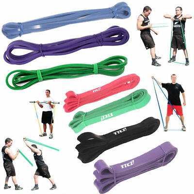 Latex Yoga Band Pull Tube Resistance Handle Loop Elastic Gym Training Equipment