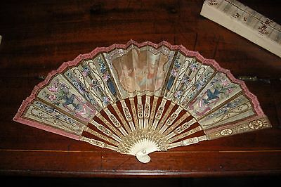 Fine French hand fan by Faucon of Paris