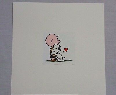 Charlie Brown & Snoopy Animation Etching 2004 Signed & Numbered COA REDUCED!