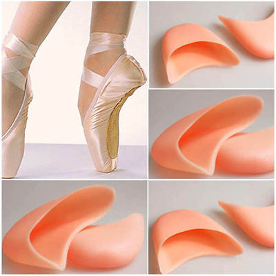 Pair Nude Gel Silicone Toe Cap Cover Soft Ballet Pointe Dance Shoe Pads Cushions