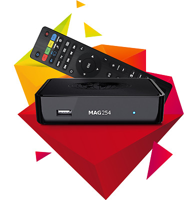Mag 254 Iptv Internet Box+12Months Gift 1100+Channels+Vod/kids/familys Packages