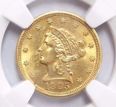 1905 $2.50 Liberty Head Gold Coin MS 61 NGC Certified * Quarter Eagle *