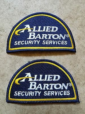 Allied Barton Security Services Patches Pair