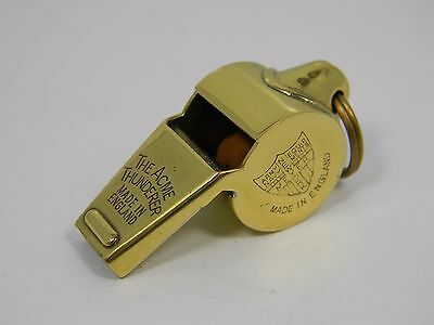 New Old Stock Gold Acme Thunderer Whistle Army Navy Meyer NY made in England