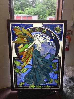 Nice Art Nouveau Stained Glass Designer Custom Window - Arw1