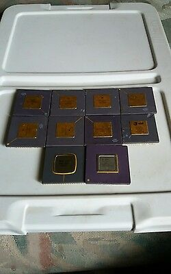10 cpus motorola at@t and nec have bent pins and sold for gold recovery