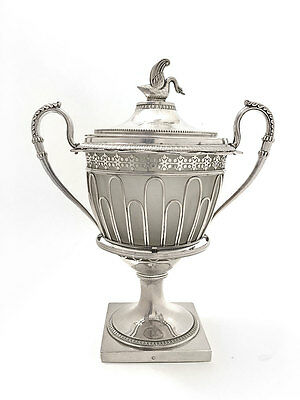 Rare French Empire Silver Confiturier or Jam Pot by L Ruchmann of Paris