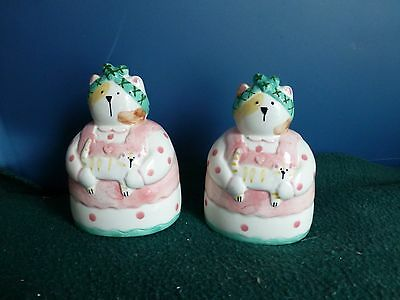 Ceramic Cat Salt And Pepper Shakers Linda Higgins Excellent Condition Never Used