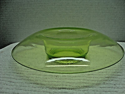 Green Vaseline glass  small console bowl.