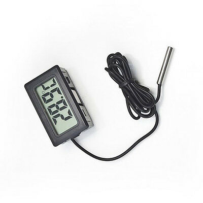 Digital Waterproof Aquarium Fish Tank LCD Black Thermometer