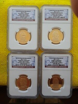 Perfect 2011 S Presidential Dollars 4 Coin Proof Set Ngc Pf70 Ultra Cameo  Rare!