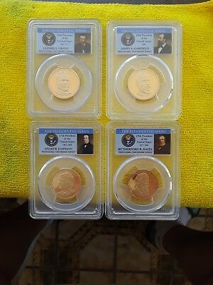 Perfect 2011 S Presidential Dollar Set  With Grant!!! Proof State 70Dcam Rare!!
