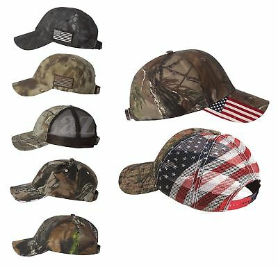 USA CAMO Hunting Caps, Mesh, Baseball Hat, Trucker Realtree, Mossy Oak, US Flag