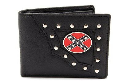 Lot of 12 Black Bifold YL Wallets Confederate Money Holder Metal Logo