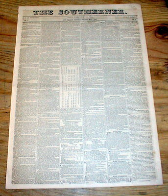 Rare original 1847 New Orleans Southerner newspaper LOUISIANA w 10 DENTIST ADS