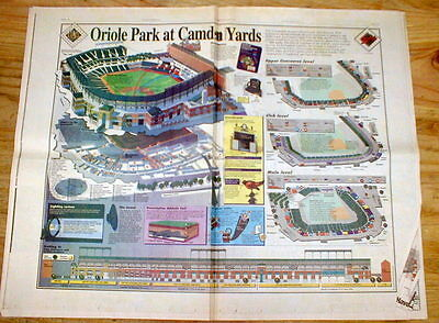 BEST 1992 Baltimore newspapers w Opening of ORIOLE PARK at CAMDEN YARDS Baseball