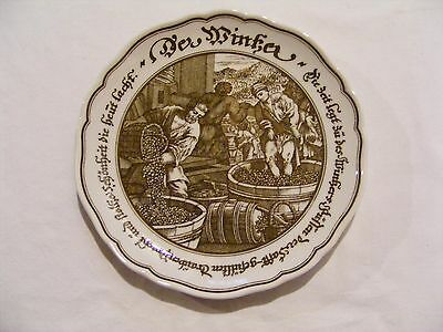 """Hutschenreuther Germany, Brown And White 7 3/4"""" Plate"""