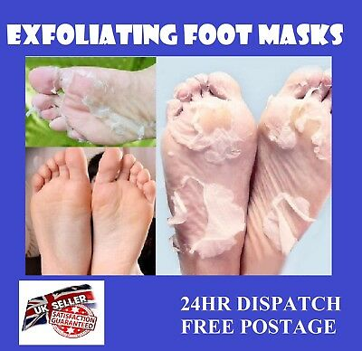 2X Exfoliating Peel Foot Mask Baby Soft Feet Remove Hard Dead Skin Callus Care